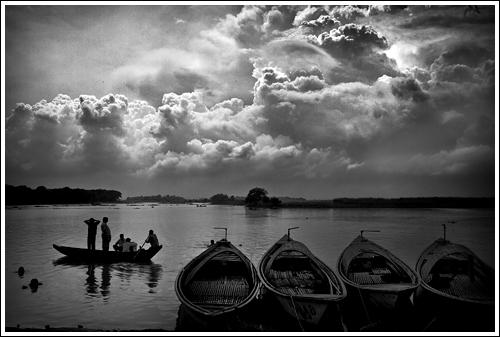 Between the two banks [..Munshiganj, Bangladesh..]