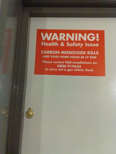 Always take heeds of Gas warnings