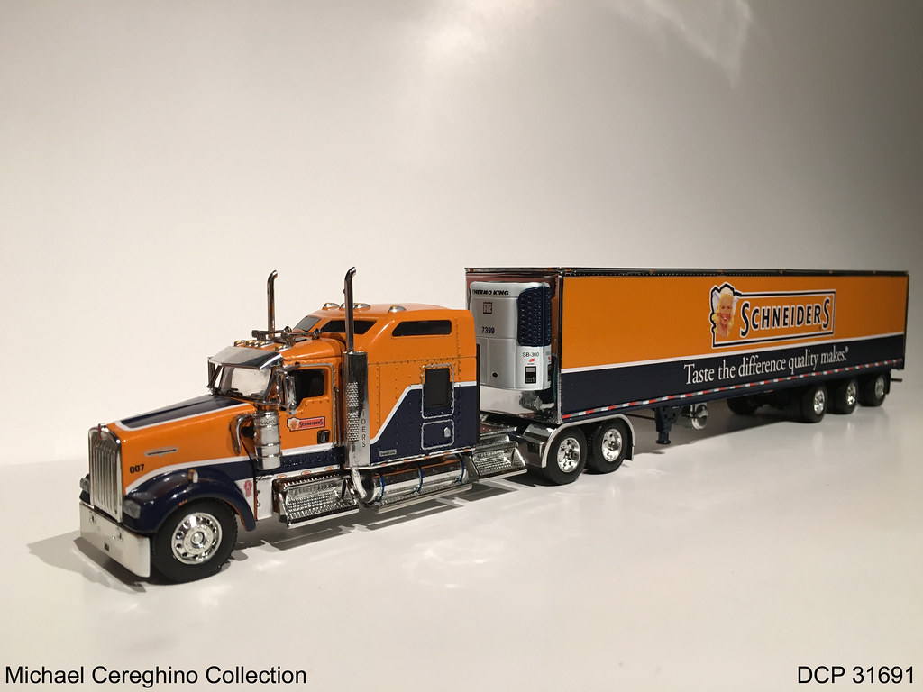 Diecast Replica Of Jm Schneider Meats Kenworth W900l Dc Flickr