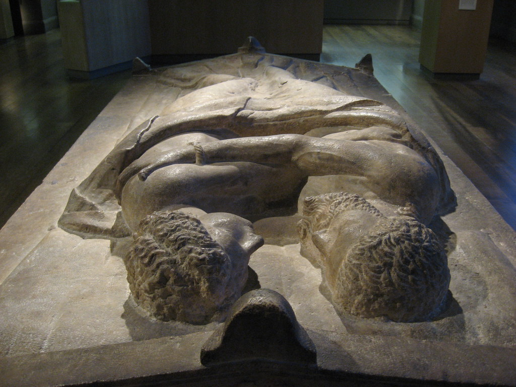 Etruscan couple's coffin