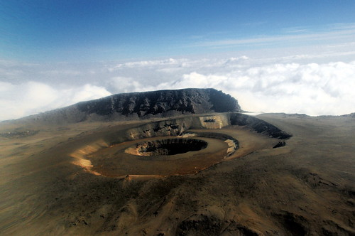 無料写真素材, 自然風景, 山, キリマンジェロ, 風景  タンザニア, 火口