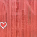 Red wood boards with heart painting by Anders Peter Photography