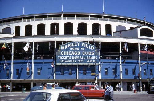 1962 Wrigley Field Front Home of the Chicago Cubs