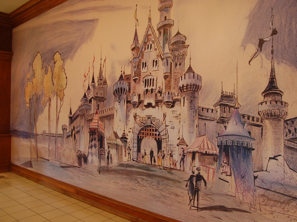 Disney mural flickr photo sharing for Disneyland mural