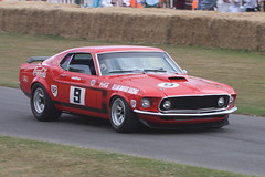 race car, auto racing, automobile, racing, vehicle, stock car racing, automotive design, first generation ford mustang, boss 429, classic car, land vehicle, muscle car, sports car,