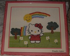 art, textile, picture frame, embroidery, cross-stitch,