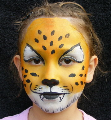 Easy cheetah face paint for kids - photo#5