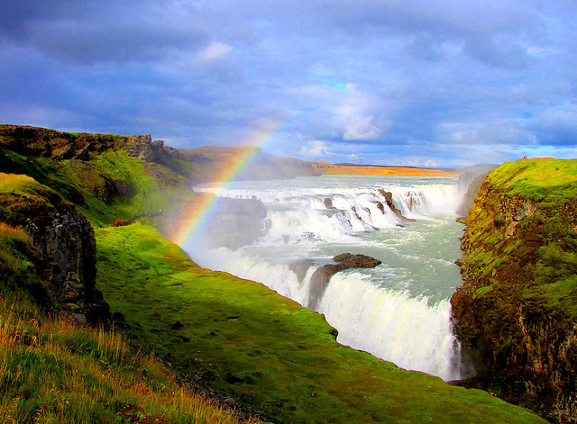 Gullfoss waterfall by CC user opalsson on Flickr