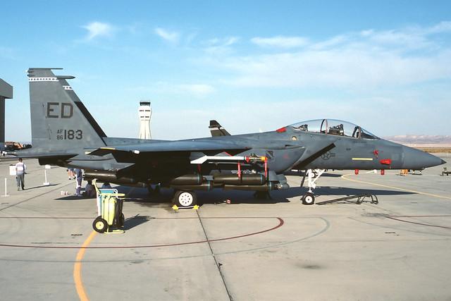 86-0183 - the first McDonnell Douglas F-15E Strike Eagle, line number E1