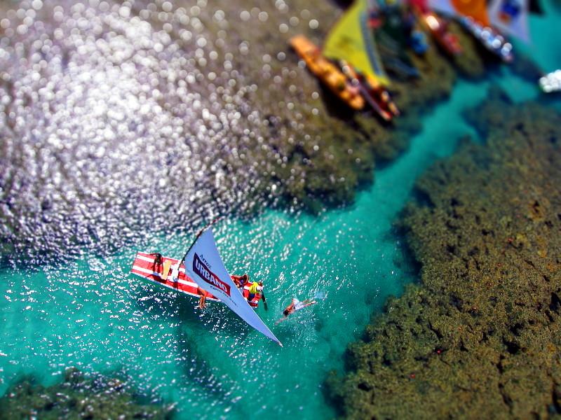 Porto de Galinhas - Nadando em águas cristalinas (falso Tilt-Shift)