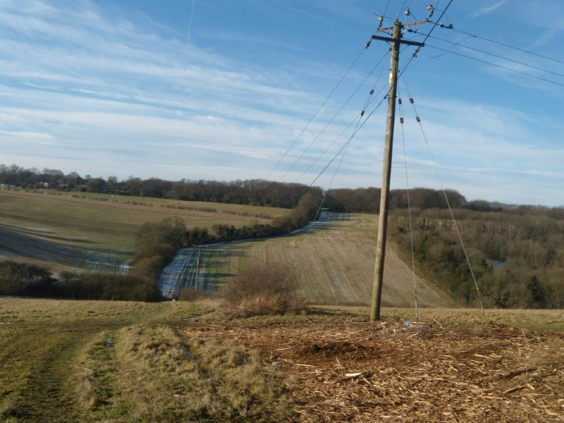 Even nicer picture of a telegraph pole Snodland to Sole Street