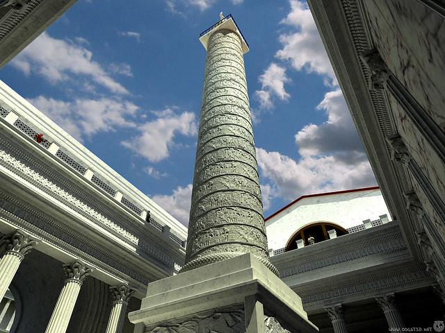 ROMA ARCHEOLOGICA & RESTAURO ARCHITITTURA: Il Foro di Traiano - Ai Piedi Della Colonna di Traiano | Forum of Trajan - Column of Trajan (1907-2015 [2008]).  ([c. 2001 - revised in high-resolution 03/2008] copyright: Joost van Dongen).