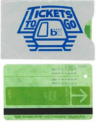 oldschool bart ticket and ticket holder