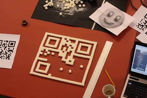 QR code making of sugar cubes