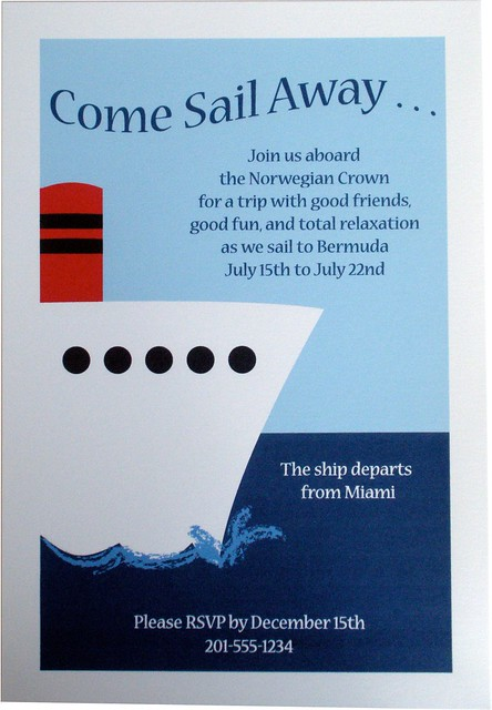 Party Invitation - Nautical Cruise Ship Boat | Flickr ...