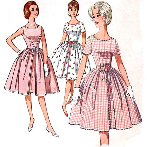 Vintage 1960's summer dress sewing pattern