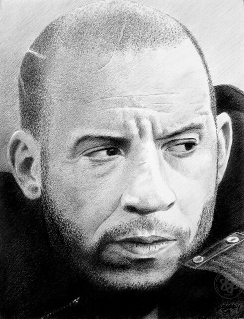 Vin diesel pencil drawing by pbradyart flickr photo sharing - Vin rossini ...