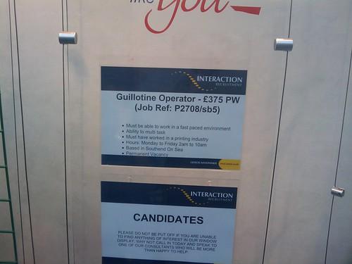 Guillotine Operator!?