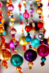Colorful beads in antique shop in OK
