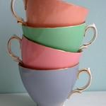 Pastel tea cups