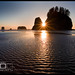 Ripples To The Sun - Olympic Peninsula, Washington by Adrian Klein