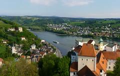 Veste Oberhaus at the junction of three rivers