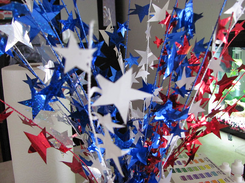 4th of July table center piece decor