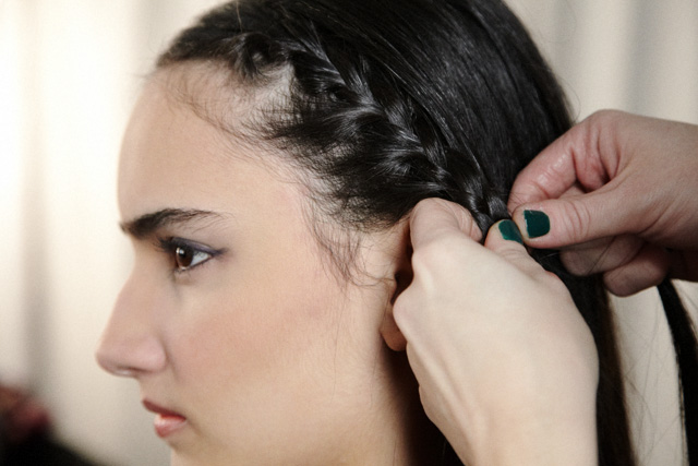 Two side french braids
