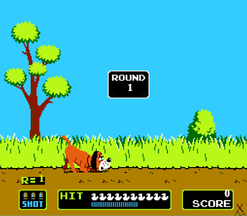 Screenshot from Nintendo game _Duck Hunt_