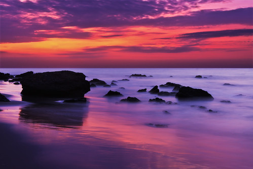 longexposure sunset beach peru evening twilight rocks dusk mancora piura losorganos