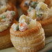 Pastry with Russian salad