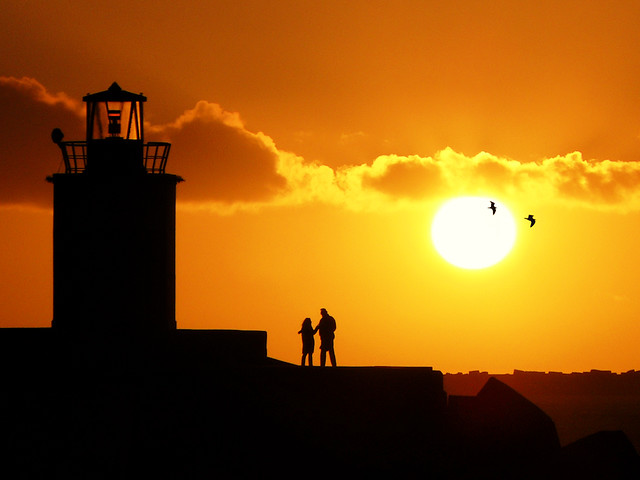 It takes two for a sunset tango!