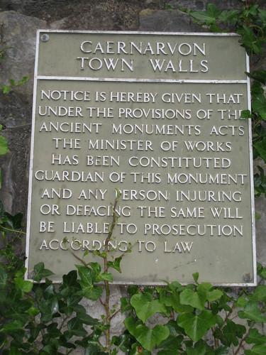 Town Walls of Caernarvon, North Wales