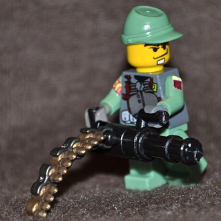 Brickarms Minigun prototype 1