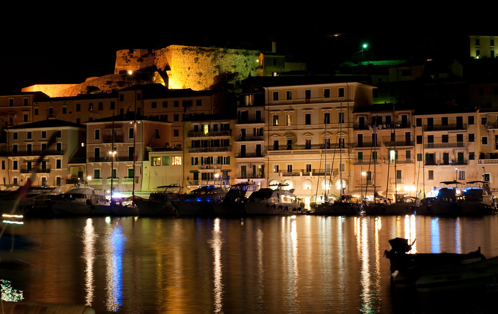 Portoferraio by night.