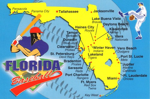Florida Baseball map postcard - available | Spring training … | Flickr