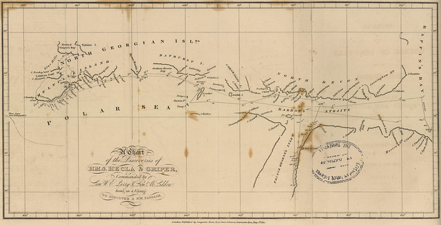 The Chart of the Discoveries of H.M.S. Hecla & Griper, Commanded by Lieut. W.E. Parry & Lieut. M. Liddon being on a Voyage to Discover a N.W. Passage (1821)