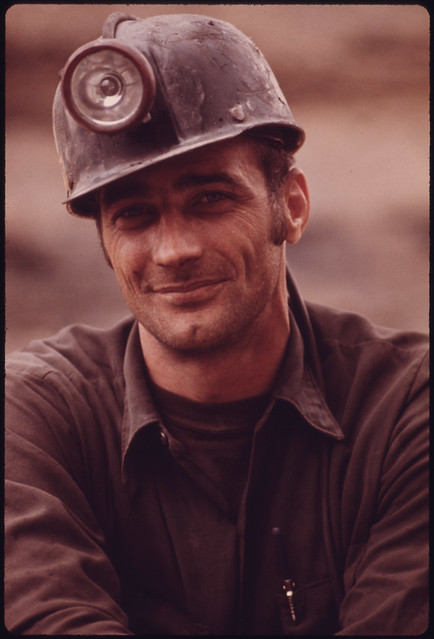 One of a Series of Portraits of Miners Waiting to Go to Work on the 4 P.M. to Midnight Shift at the Virginia-Pocahontas Coal Company Mine #4 near Richlands, Virginia 04/1974