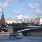 Kremlin view from Moskva river