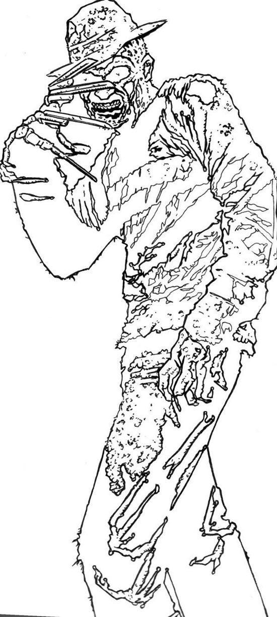 Freddy Vs Jason Coloring Coloring Pages