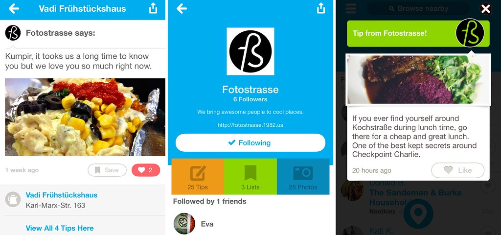 A Foursquare for Fotostrasse