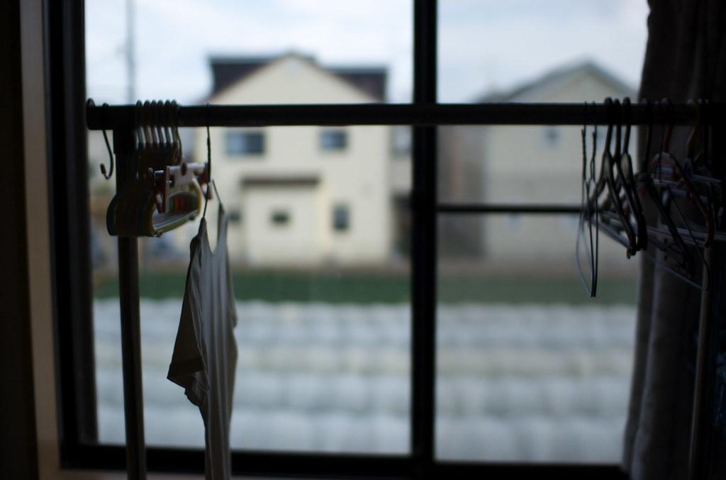 洗濯物と窓