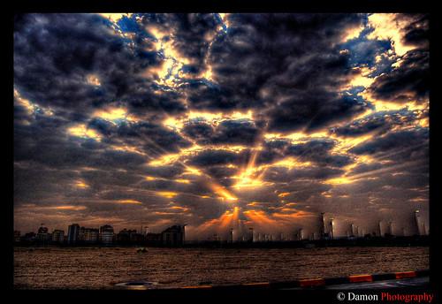 morning blue sunset sky cloud sun fall yellow set clouds geotagged nikon sundown down kuwait rise showcase damon hdr explode q8 d40 mywinners nikond40 anawesomeshot vosplusbellesphotos geo:lat=2931166 geo:lon=47481766 ishbelia