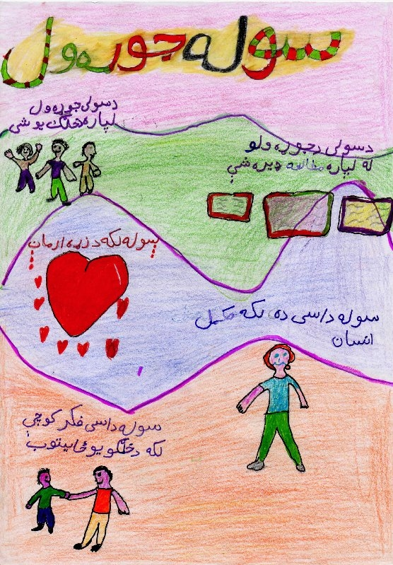Depictions of Peace From Kandahar, Afghanistan / Dessins montrant des scènes de paix de Kandahar, Afghanistan.
