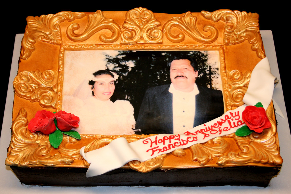 Good Wedding Anniversary Frame Cake