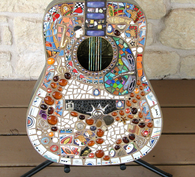 mosaic guitar celebrating Texas women in music
