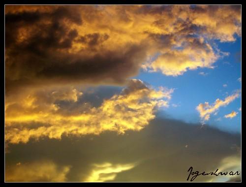 sunset sky yellow dusk splash
