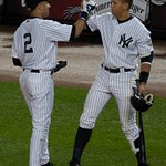 Alex Rodriguez: Jeter & A-Rod Celebrate Hit #2722