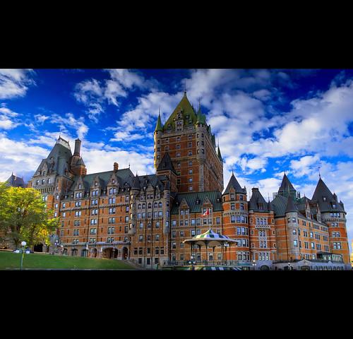 city blue canada building castle hotel nikon downtown quebec quebeccity chateau chateaufrontenac hdr frontenac vieuxquebec d60 quartierpetitchamplain tonemapping exploreisactinglikeafckingcnt