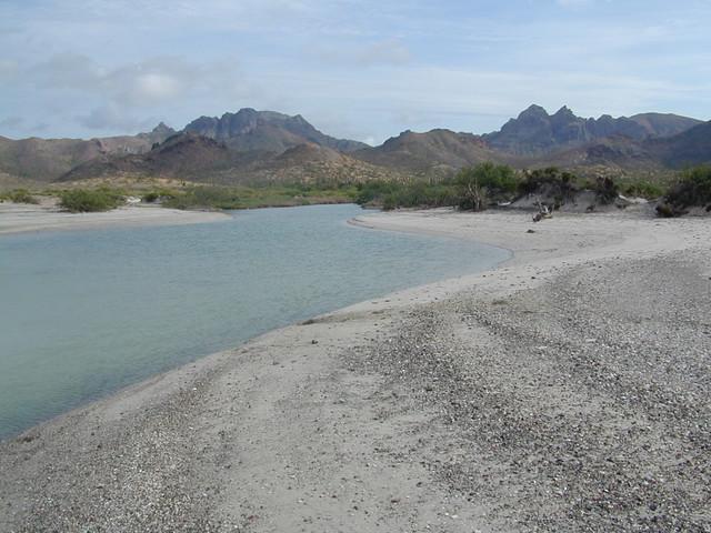 Baja beach inlet